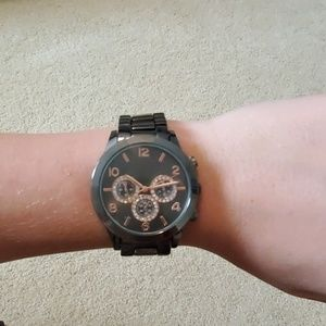BNWT steel grey with rose accents